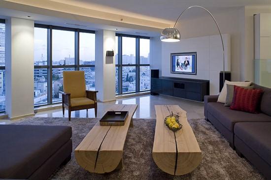 עיצוב דירות יוקרה - שטיח בסלון
