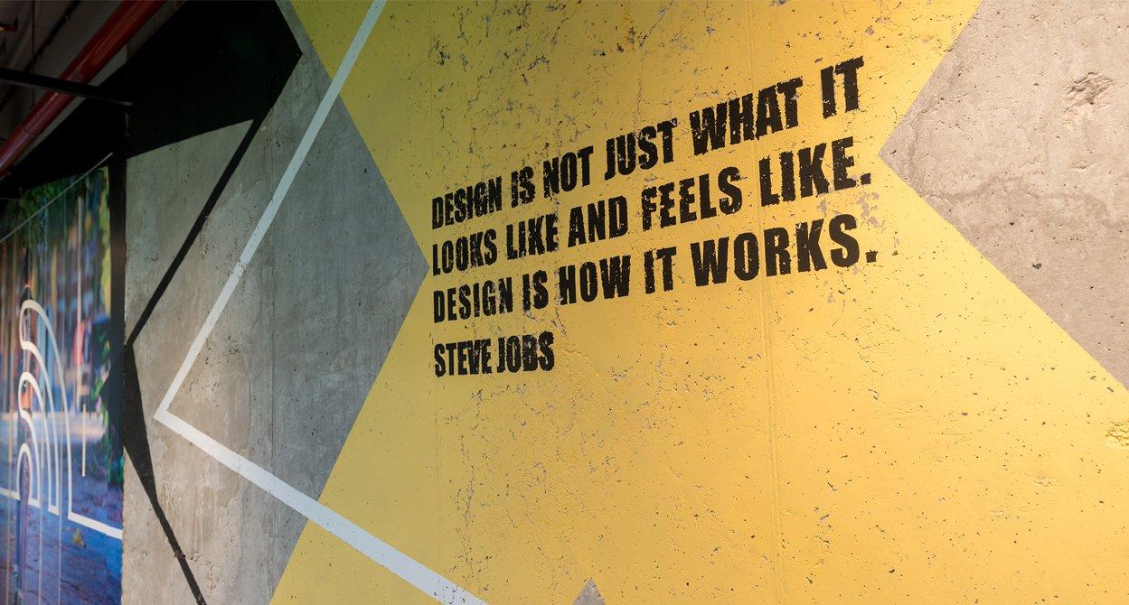 קיר בעיצוב מודרני למשרד